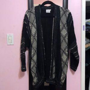 Black, White & Gray knit cardigan LUSH